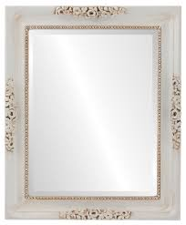 versailles framed rectangle mirror in