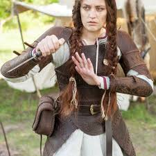 viking s leather armour shieldmaiden