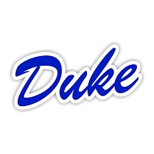 Duke Blue Devils F Die Cut Decal 4 Sizes 3673