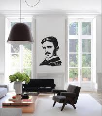 Ik1018 Wall Decal Sticker Serbian Physicist Nikola Tesla Room Bedroom Stickersforlife
