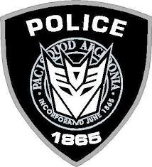 Decepticon Police Decal Sticker 16