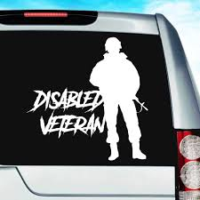 Disabled Veteran Soldier Vinyl Car Truck Window Decal Sticker
