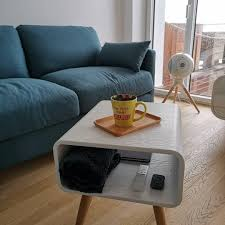 esme coffee table with two drawers ash