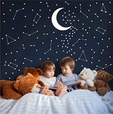 Amazon Com Melissalove 190 Gold Star Constellation Wall Decal Kids Bedroom Removable Decoration Outer Space Nursery Sticekrs Zodiac Astronomy Art Mural Decor Zb162 White Arts Crafts Sewing