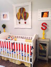 baby boy hot air balloon nursery