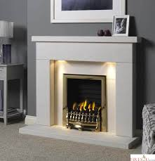 downlights and gas fire