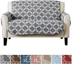 Amazon Com Reversible Love Seat Cover For Living Room Oversized Loveseat Furniture Protector With Secure Straps Furniture Cover For Dogs Protect From Kids And Pets Love Seat Charcoal Kitchen Dining