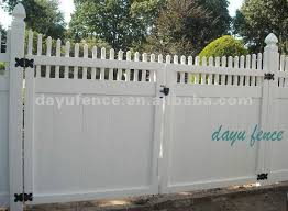 Vinyl Fence Gate Fence Gate Driveway Gate Fence