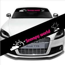 Auto Car Front Back Windshield Banner Reflective Decal Sticker For Snoopy World Ebay