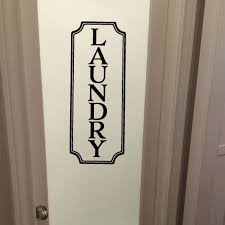 Laundry Sign Vinyl Wall Decal Laundry Room Decal Vinyl Lettering