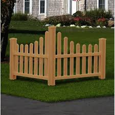 New England Arbors 2 5 Ft H X 4 Ft W Country Fence Panel Wayfair Ca