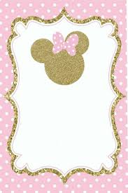 Plantillas Minnie Mouse Birthday Invitations Minnie Mouse