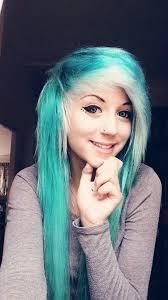 colored hair emo scene blonde hair