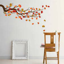 Branch Maple Leaf Wall Sticker Removable Modern Art Mural Stickers For Living Room Bedroom Tv Wall Home Decoration Bedroom Decor Wall Stickers Aliexpress