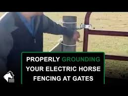 How To Avoid Getting Shocked At Fence Gates High Voltage Electric Burial Wire Youtube