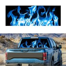 Burning Blue Flame Totem Rear Window Graphic Decal Sticker For Car Truck Suv Van In 2020 Cars Trucks Rear Window Car Stickers