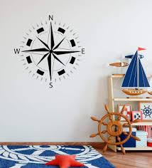Amazon Com Compass Adventure Travel Theme Wall Decal 18 High X 18 Wide Home Kitchen