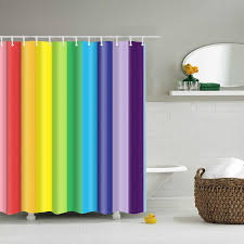 ful rainbow stripes pattern bathroom