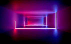 room with neon lights wallpaper id 3472