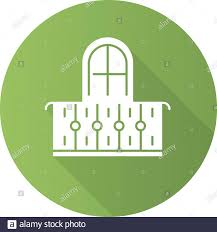 Balcony Green Flat Design Long Shadow Glyph Icon Interior Element Vintage Design Apartment Veranda Small Terrace With Fence Architecture Building Stock Vector Image Art Alamy