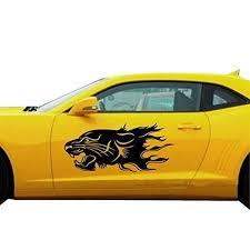 Fochutech 1 Set Car Auto Body Sticker Lion Self Adhesive Side Truck Vi