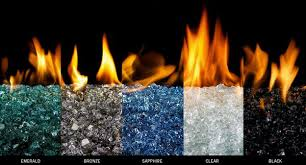 putting recycled glass in fireplace
