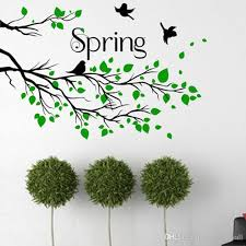 Black Tree Branches With Green Leaves Flying Birds Wall Decal Home Decor Living Room Bedroom Hallway Decoration Wall Mural Poster Stickers Peelable Wall Decals Peelable Wall Stickers From Magicforwall 11 76 Dhgate Com