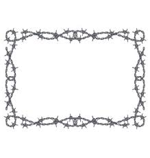 Barbed Wire Frame Vector Image On Vectorstock Barbed Wire Art Western Clip Art Barbed Wire