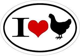 Amazon Com Wickedgoodz Oval I Love Chickens Vinyl Decal Hen Bumper Sticker Perfect For Windows Cars Tumblers Laptops Lockers Sports Outdoors