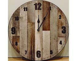 awesome rustic wood clock 36 inch