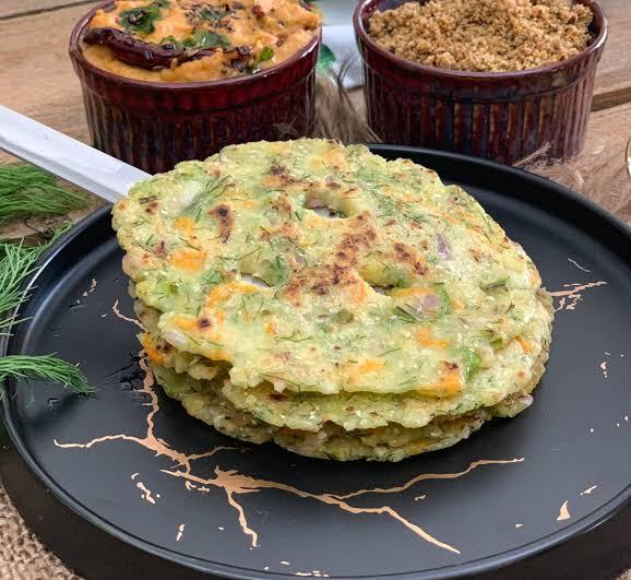 Akki roti with Spring onions
