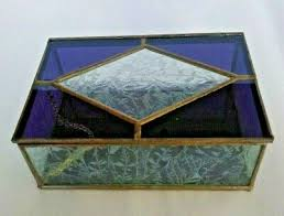 vintage hexagon stained glass