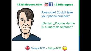 Dialogue 93 Ingles Spanish Ask Someone Out Invitar A Alguien A Salir Youtube