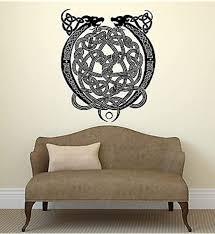 Amazon Com V Studios Wall Decal Viking Dragon Tattoo Celtic Pattern Irish Mascot Vinyl Decal Vs2772 Home Kitchen