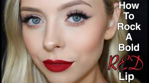 how to rock a bold red lip