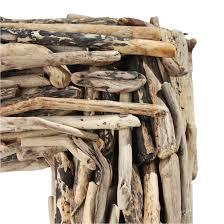 large driftwood stick mirror frame