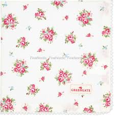 GreenGate Cloth Napkin with Lace Abigail White