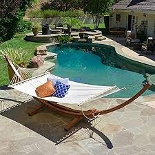 Amazon.com: Christopher Knight Home Grand Cayman Hammock With a Larch Wood  Frame, Quality Addition To Your Outdoors. Relax And Enjoy The Finer Things  in Life.: Garden & Outdoor