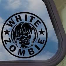 Amazon Com White Rob Zombie Black Decal Car Truck Window Sticker Automotive