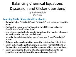 ppt balancing chemical equations