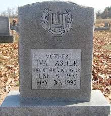 ASHER, IVA - Greene County, Arkansas | IVA ASHER - Arkansas Gravestone  Photos