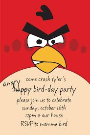 Angry Birds Birthday Invitation Very Cute Labor Intensive But