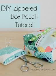 diy zippered box pouch tutorial