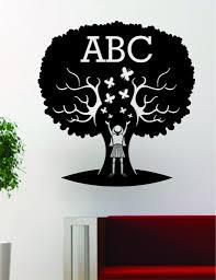 Abc Tree School Teacher Design Decal Sticker Wall Vinyl Decor Boop Decals