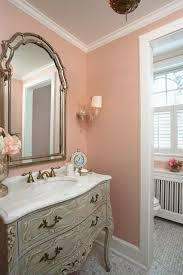 dusty pink wall color with white