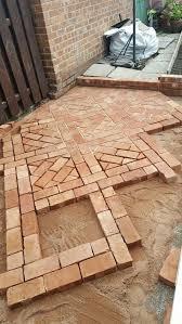 rock concrete brick patio ideas