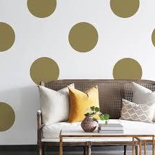 Metallic Big Polka Dots Wall Decals