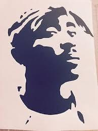 Vinyl Decal Bumper Car Window Sticker Tupac Shakur 2pac Art Rapper Art Etch A Sketch Art