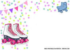 Free Printable Roller Skates Invitation Templates With Images