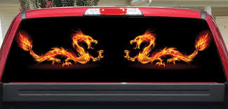 Fire Dragons Rear Window Decal Let S Print Big